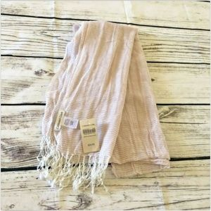 NWT Coldwater Creek Scarf Cotton Crinkle Fringe
